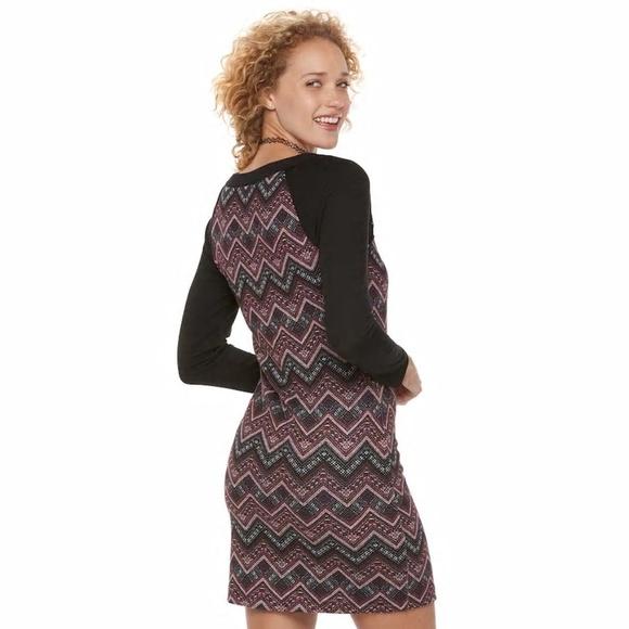 Three Pink Hearts Dresses Juniors Chevron Sweater Dress Poshmark